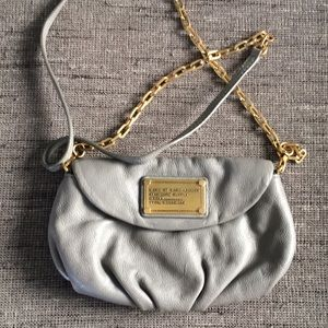 Marc Jacobs Gray small leather purse crossbody
